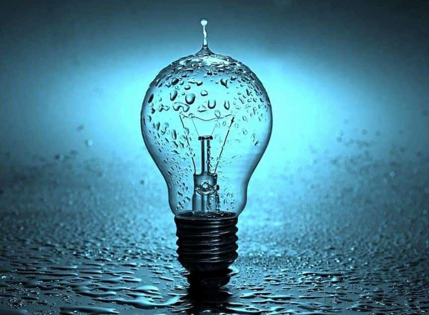 lightbulb water