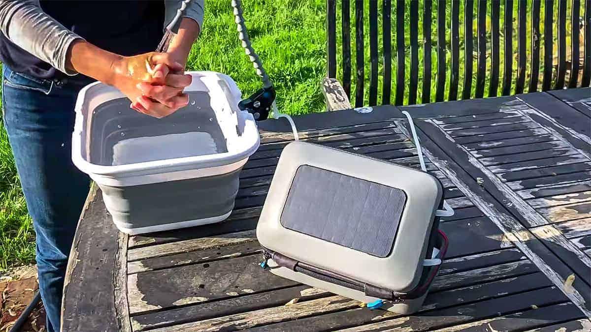 Washing Hands / Solar Water Purifier / GoSun